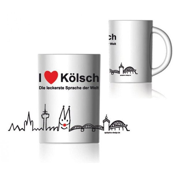 "Agrippina Kaffeebecher ""I love Kölsch"""